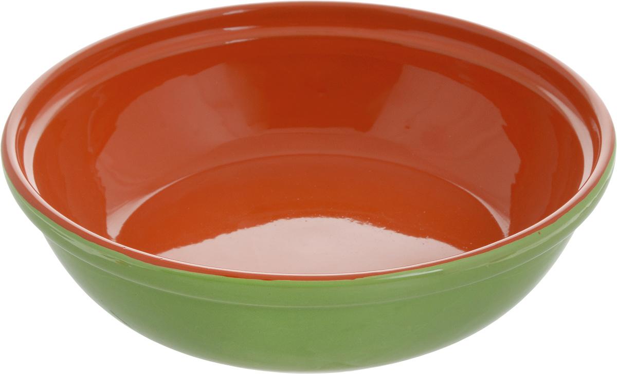 Салатник Борисовская керамика Модерн, цвет: салатовый, оранжевый, 1 лVT-1520(SR)Салатник Борисовская керамика Модерн выполнен из высококачественной глазурованнойкерамики. Этот удобный салатник придется по вкусу любителям здоровой и полезной пищи.Посуда термостойкая. Можно использовать в духовке и микроволновой печи.