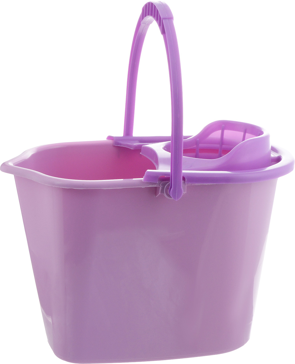 Ведро для уборки York, с насадкой для отжима швабры, цвет: сиреневый, фиолетовый, 10 л787502Ведро York, изготовленное из полипропилена, порадует практичных хозяек. Изделие снабжено специальной насадкой, которая обеспечивает интенсивный отжим ленточных швабр. Это значительно уменьшает физические нагрузки при мытье полов. Насадка надежно крепится на ведро и также легко снимается, позволяя хранить ее отдельно. Для удобного использования ведро оснащено эргономичной ручкой.Размер ведра (по верхнему краю): 35 х 22 см.Высота ведра: 24 см.