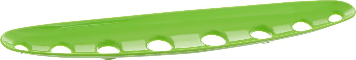 Миска для фруктов и овощей Tescoma Vitamino, продольная, цвет: зеленый, 45 х 9 х 3 см115510Продольная миска Tescoma Vitamino выполнена из высококачественного прочного пластика. Изделие прекрасно подходит для хранения свежих фруктов и овощей, например, яблок, груш, слив, мандаринов, помидоров, а также для ополаскивания их под проточной водой. Миска оснащена большими отверстиями для максимального доступа воздуха к хранимым продуктам. Фрукты и овощи в таком изделии дозревают естественным путем и дольше остаются свежими.Подходит для холодильника и посудомоечной машины.Размер миски: 45 х 9 х 3 см.