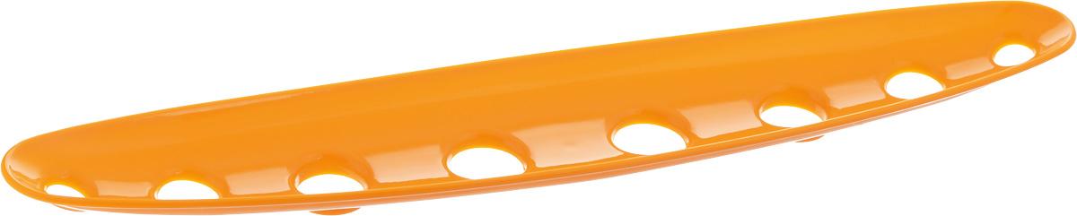 Миска для фруктов и овощей Tescoma Vitamino, продольная, цвет: оранжевый, 45 х 9 х 3 смGR1837_красныйПродольная миска Tescoma Vitamino выполнена из высококачественного прочного пластика. Изделие прекрасно подходит для хранения свежих фруктов и овощей, например, яблок, груш, слив, мандаринов, помидоров, а также для ополаскивания их под проточной водой. Миска оснащена большими отверстиями для максимального доступа воздуха к хранимым продуктам. Фрукты и овощи в таком изделии дозревают естественным путем и дольше остаются свежими.Подходит для холодильника и посудомоечной машины.Размер миски: 45 х 9 х 3 см.