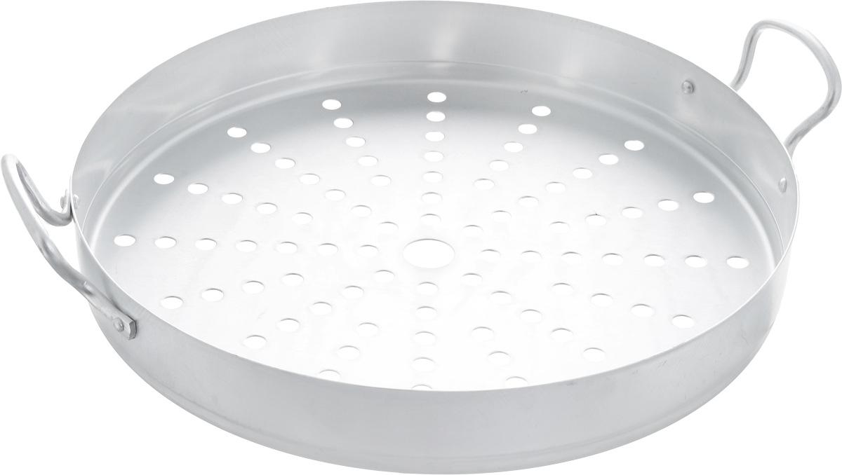 Секция к мантоварке Сетка, на 13 л, диаметр 34 см68/5/2Секция Калитва выполнена из алюминия и предназначена для мантоварки объемом 13 л. Изделие имеет отверстия и оснащено удобными ручками. Диаметр секции: 34 см. Высота стенки: 5 см.