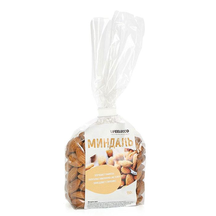 UFEELGOOD Миндаль орех, 150 г0120710Миндальный орех имеет изысканный вкус, он считается символом здоровья, красоты и долголетия.
