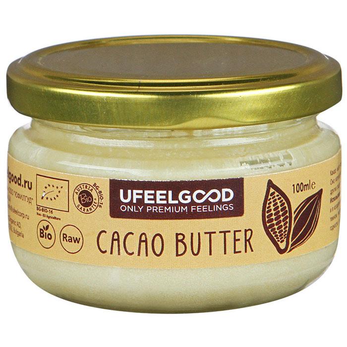 UFEELGOOD Cacao Butter какао масло органическое, 100 мл32111Данное какао масло прошло сертификацию, оно является необработанным натуральным продуктом. Масло из какао бобов получают путём холодного прессования, что позволяет сохранять и сконцентрировать в масле все полезные свойства растения. Масло какао обладает многими полезными свойствами:Замедляет старение кожи,Восстанавливает водный баланс,Разглаживает морщины,Поддерживает здоровье сердца,Снижает кровяное давление,Снижает угрозу сердечно-сосудистых заболеваний.Какао масло рекомендуют употреблять не только в пищу, но и наружно для местного увлажнения, смягчения кожи. Оно эффективно при лечении дерматита, помогает при появлении шрамов, растяжек. Наше перуанское какао масло признано самым вкусным и полезным шоколадным продуктом. Оно исключает добавление химических усилителей вкуса и сахаров.