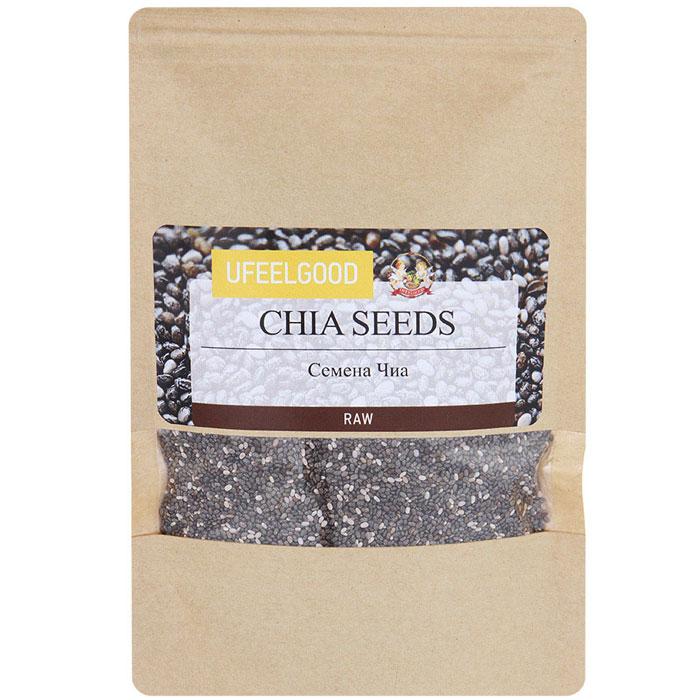 UFEELGOOD Organic Chia Premium Seeds органические семена чиа, 150 г0120710В отличие от традиционных зерновых, таких как овес, рис и кукуруза, в семенах чиа содержится всего 8% углеводов. Однако, в них 20% белка. Семена чиа быстро насыщают желудок и задерживают высвобождение гормона грелина. Поэтому семена чиа отлично подходят для диет, так как употребление их даже в небольшом количестве способно быстро утолить голод.