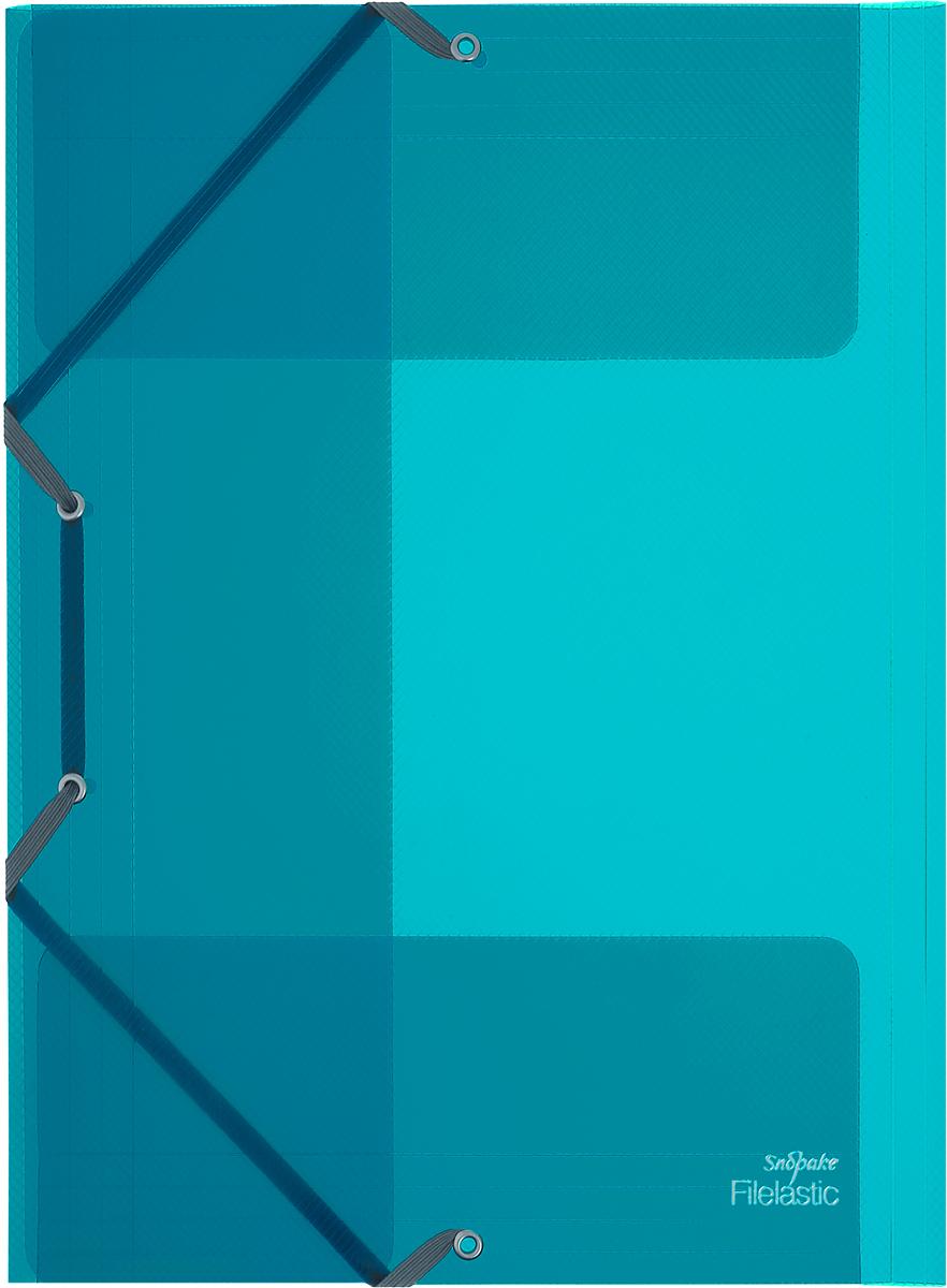 Snopake Папка-конверт на резинке Filelastic Electra цвет цвет бирюзовый2010440Папка-конверт на резинке Snopake Filelastic Electra  - это удобный и функциональный офисный инструмент, предназначенный для хранения и транспортировки рабочих бумаг и документов формата А4.Папка с двойной угловой фиксацией резиновой лентой изготовлена из износостойкого полупрозрачного пластика. Внутри папка имеет три клапана, что обеспечиваетнадежную фиксацию бумаг и документов.Папка - это незаменимый атрибут для студента, школьника, офисного работника. Такая папка надежно сохранит ваши документы и сбережет их от повреждений, пыли и влаги.