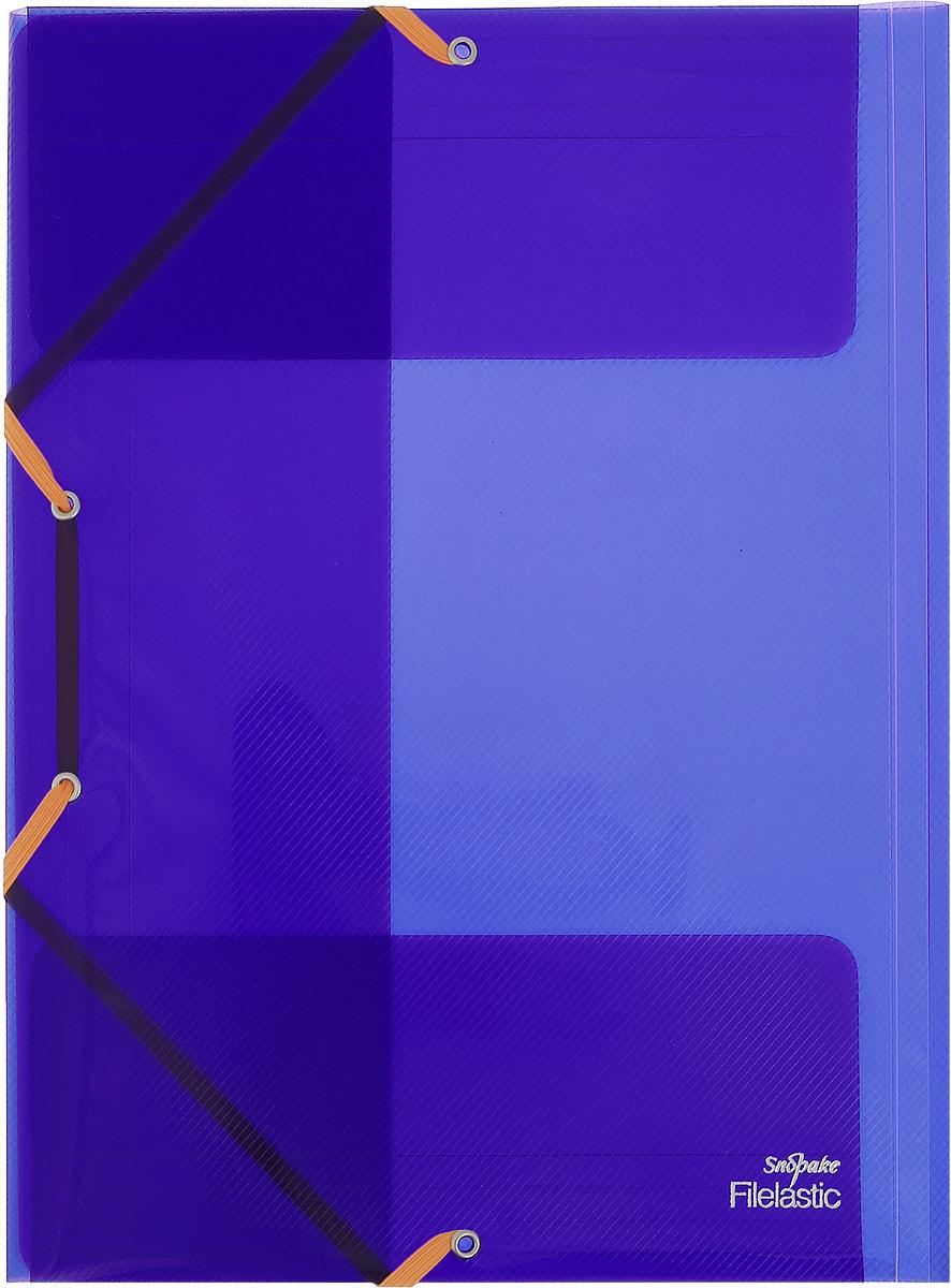 Snopake Папка-конверт на резинке Filelastic Electra цвет фиолетовыйC13S041944Папка-конверт на резинке Snopake Filelastic Electra  - это удобный и функциональный офисный инструмент, предназначенный для хранения и транспортировки рабочих бумаг и документов формата А4.Папка с двойной угловой фиксацией резиновой лентой изготовлена из износостойкого полупрозрачного пластика. Внутри папка имеет три клапана, что обеспечивает надежную фиксацию бумаг и документов.Папка - это незаменимый атрибут для студента, школьника, офисного работника. Такая папка надежно сохранит ваши документы и сбережет их от повреждений, пыли и влаги.