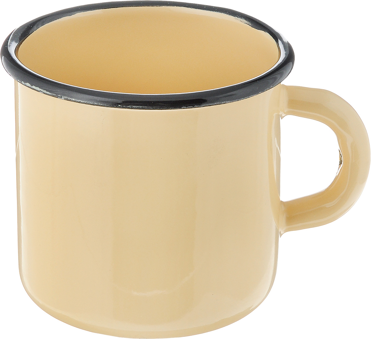 Кружка эмалированная СтальЭмаль, цвет: желтый, 400 мл54 009312Кружка СтальЭмаль изготовлена из высококачественной стали с эмалированным покрытием. Она оснащена удобной ручкой. Такая кружка не требует особого ухода и ее легко мыть.Благодаря классическому дизайну и удобству в использовании кружка займет достойное место на вашей кухне.