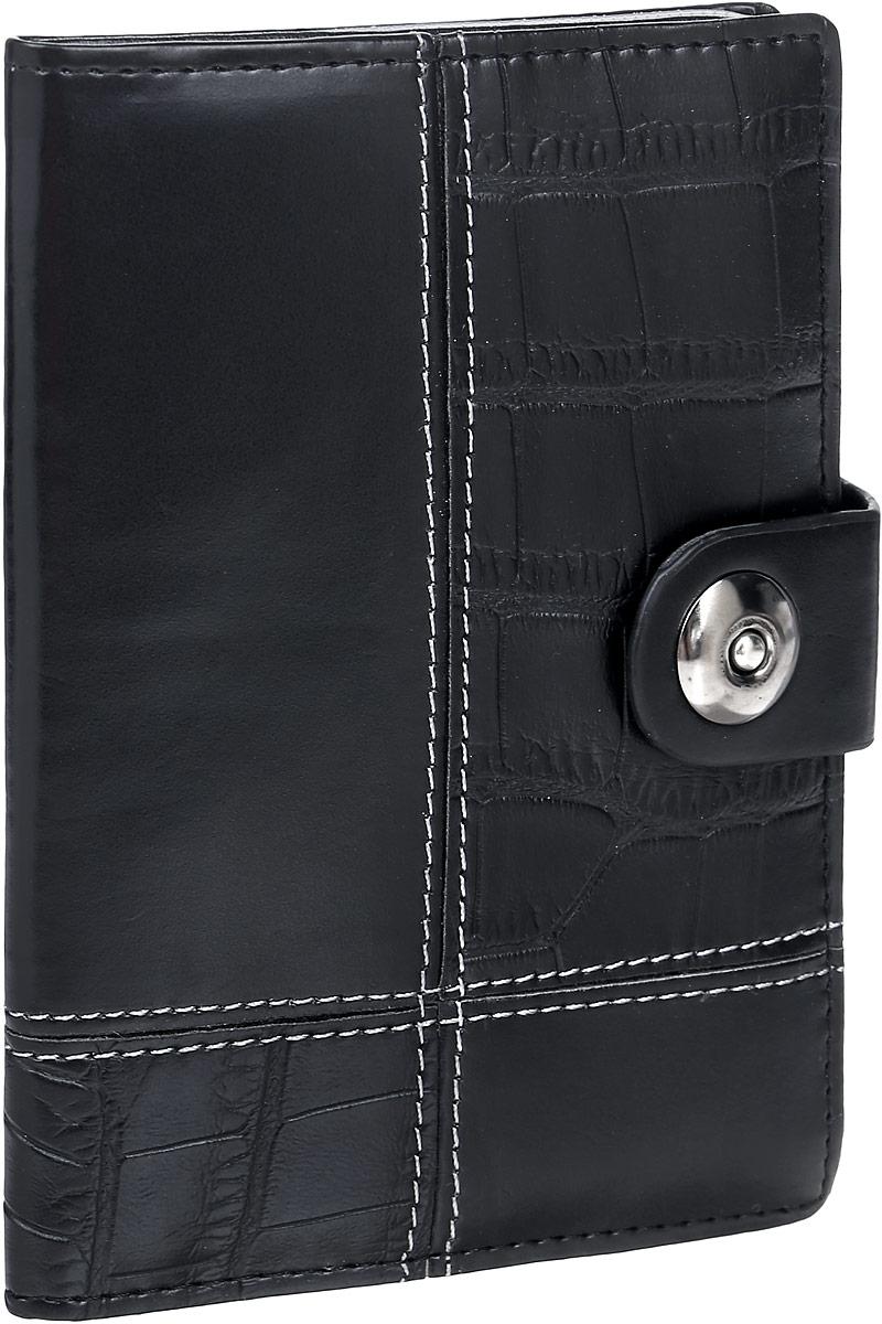 Обложка для автодокументов женская Leighton, цвет: черный. 730 ключница женская leighton цвет черный красный 2380 1 18