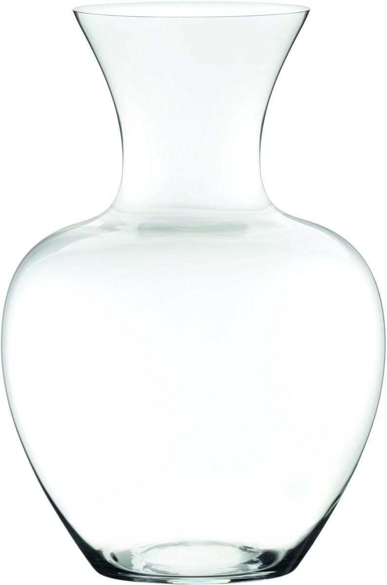 Декантер Riedel Sommeliers. Apple, цвет: прозрачный, 1,5 л836-108Декантер Riedel Sommeliers. Apple, изготовленный из высококачественного стекла, используется для вина. Необычный дизайн и смелая форма сосуда помогают максимально ярко раскрыть аромат вина и его вкус, увидеть великолепие переливов цвета и оттенков, оценить его качество. Достаточно легкого раскачивания декантера с помощью плавных круговых движений, и внутри сосуда появляется естественный водоворот: именно равномерное движение насыщает вино кислородом и дает возможность насладиться игрой света в напитке.Высота: 19,5 см.