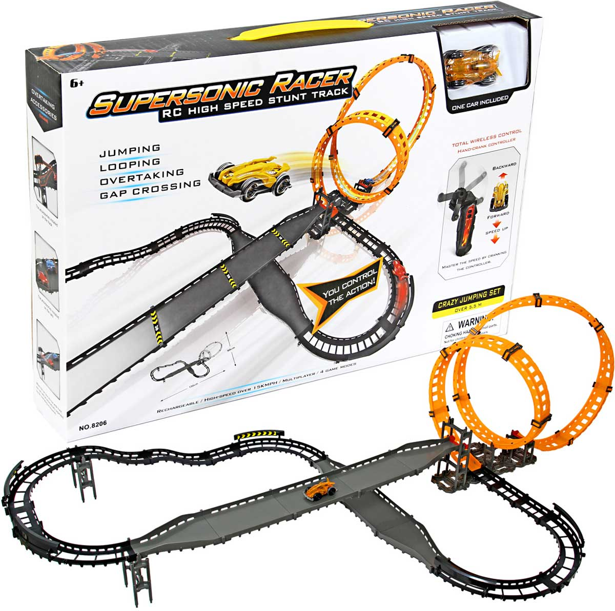 Veld-Co Трек Supersonic Racer цвет серый оранжевый - Транспорт, машинки