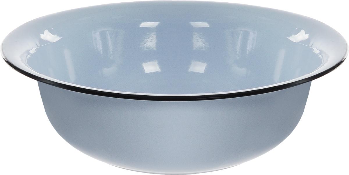 Таз СтальЭмаль, цвет: голубой, черный, 12 л787502Таз СтальЭмаль изготовлен из высококачественной стали с эмалированным покрытием. Применяется во время стирки или для хранения различных вещей. Диаметр (по верхнему краю): 45 см.Высота стенки: 13 см.