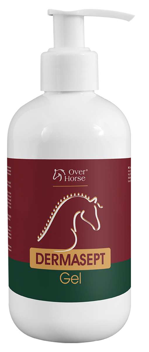 Гель для лошадей Over Horse Dermasept Gel, антибактериальный, противогрибковый, 250 мл0120710Инновационный продукт, содержащий эффективный запатентованный комплекс веществ - широкий спектр противомикробной и противогрибковой защиты. Используют при повреждениях кожи и при дерматомикозах. Dermasept Gel активно поддерживает процессы заживления кожи и восстановления роста волос на месте повреждения, способствует образованию естественного барьера, препятствующего проникновению и росту грибов. Быстро проникает в глубокие слои кожи, является безопасным и не вызывает жжения. Препарат наносят на предварительно очищенную, освобожденную от струпьев кожу 2 раза в день курсом 2-3 недели.
