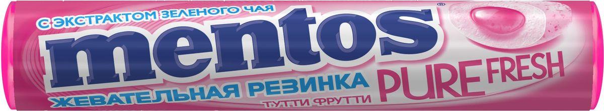 Mentos Pure Fresh Тутти-Фрутти жевательная резинка, 20 шт по 16 г