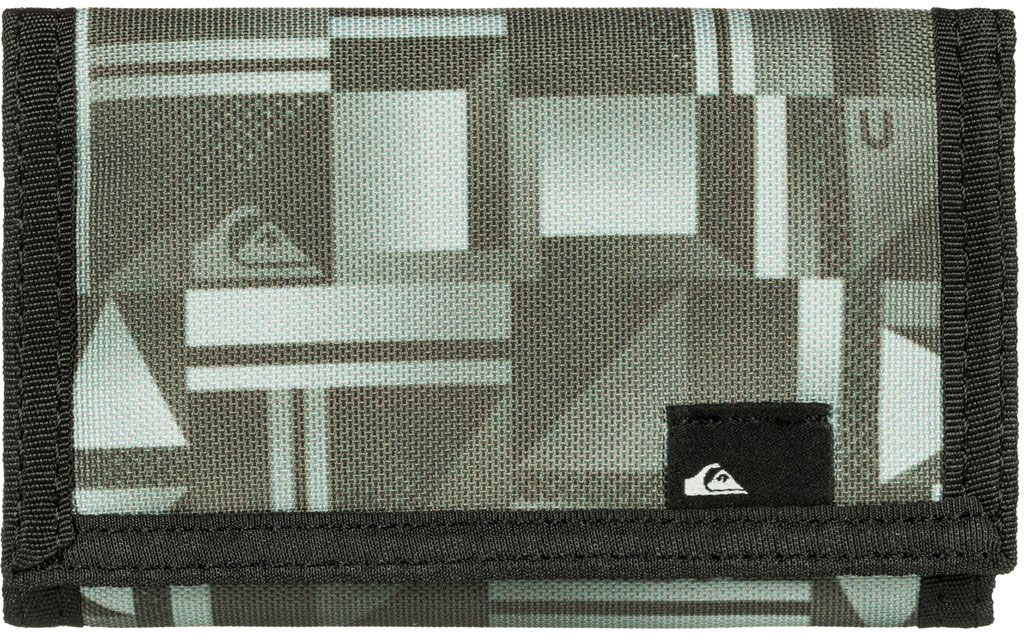 Кошелек мужской Quiksilver The Everyday, цвет: хаки. EQYAA03468-KVJ9ERJAA03224-WBT0Мужской кошелек от Quiksilver выполнен из полиэстера и оформлен оригинальным принтом. У модели складной дизайн, три секции, внешний кармашек для мелочи на молнии, много отделений для карточек, отделение для банкнот. Застегивается на липучку.