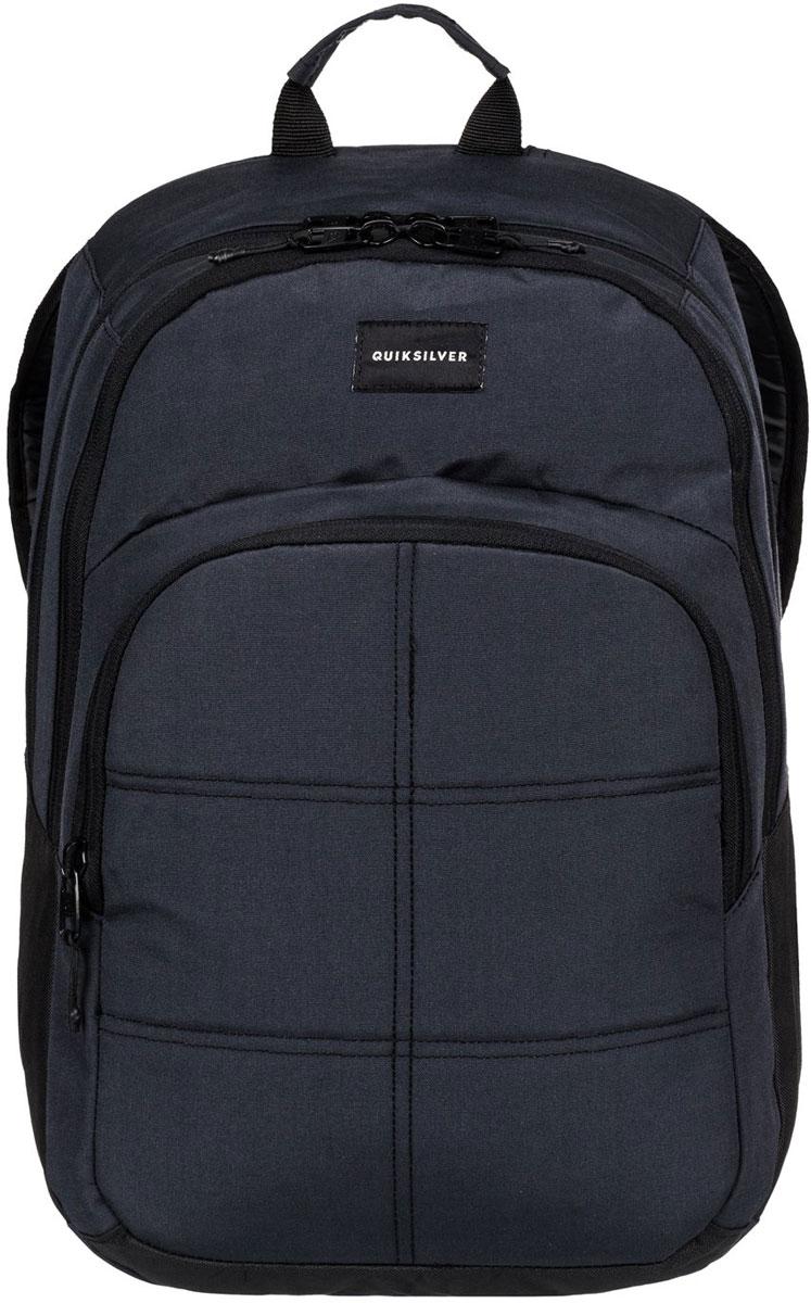 Рюкзак мужской Quiksilver Burst, цвет: черный. EQYBP03302-KVJWINT-06501Рюкзак выполнен из полиэстера. Модель с двумя отделениями. Передний карман на молнии. Рюкзак оснащен регулируемыми по длине плечевыми лямками.