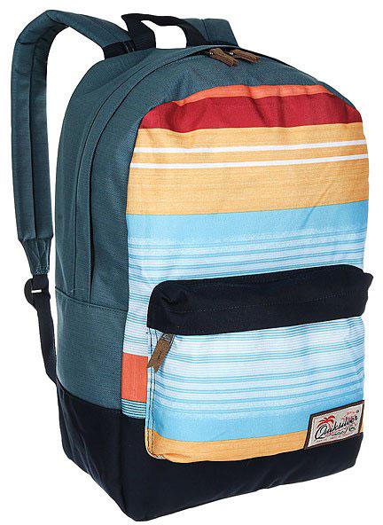 Рюкзак мужской Quiksilver Night Track, цвет: мультиколор. EQYBP03390-MKM3S76245Рюкзак Quiksilver выполнен из текстиля. У модели одно основное отделение. Передний карман на молнии. Рюкзак с регулируемыми по длине плечевыми лямками и петлей для подвешивания.