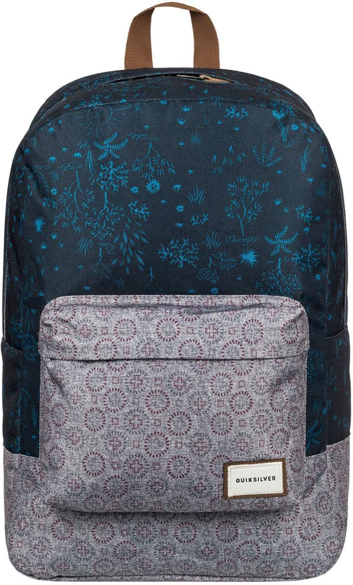 Рюкзак мужской Quiksilver Night Track, цвет: синий, серый. EQYBP03390-BYJ671069с-2Рюкзак Quiksilver выполнен из текстиля. У модели одно основное отделение. Передний карман на молнии. Рюкзак с регулируемыми по длине плечевыми лямками и петлей для подвешивания.