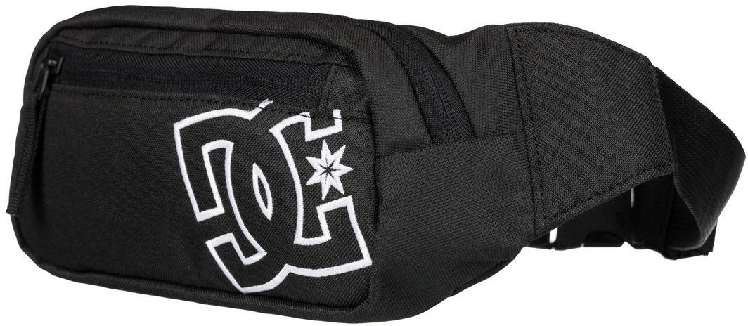 Сумка на пояс мужская DC Shoes Farce, цвет: черный. EDYBA03019-KVJ0ГризлиМужская сумка на пояс DC Shoes выполнена из полиэстера. Модель с одним основным отделением, застегивается на молнию, дополнена спереди карманом на молнии. У изделия регулируется объем пояса.