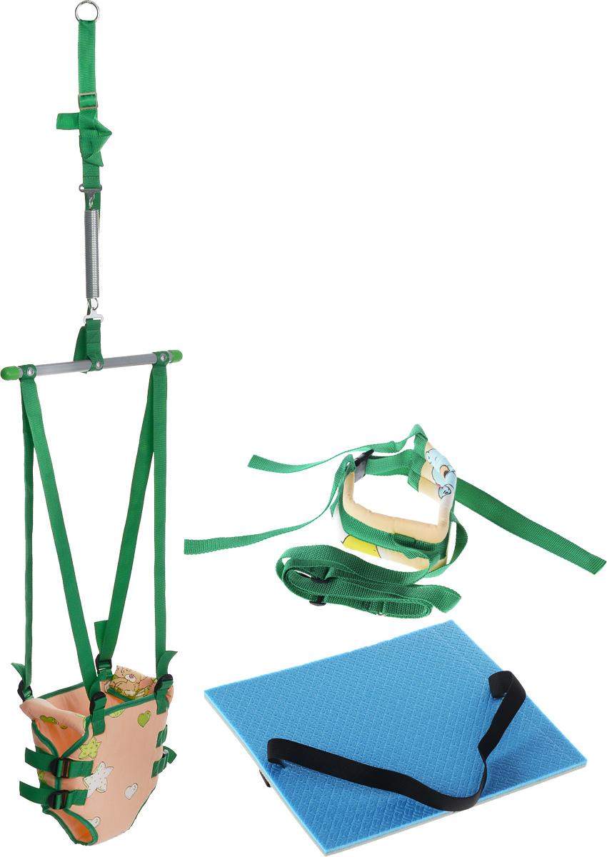 Фея Тренажер-прыгунки 4 в 1 цвет зеленый желтый -  Ходунки, прыгунки, качалки