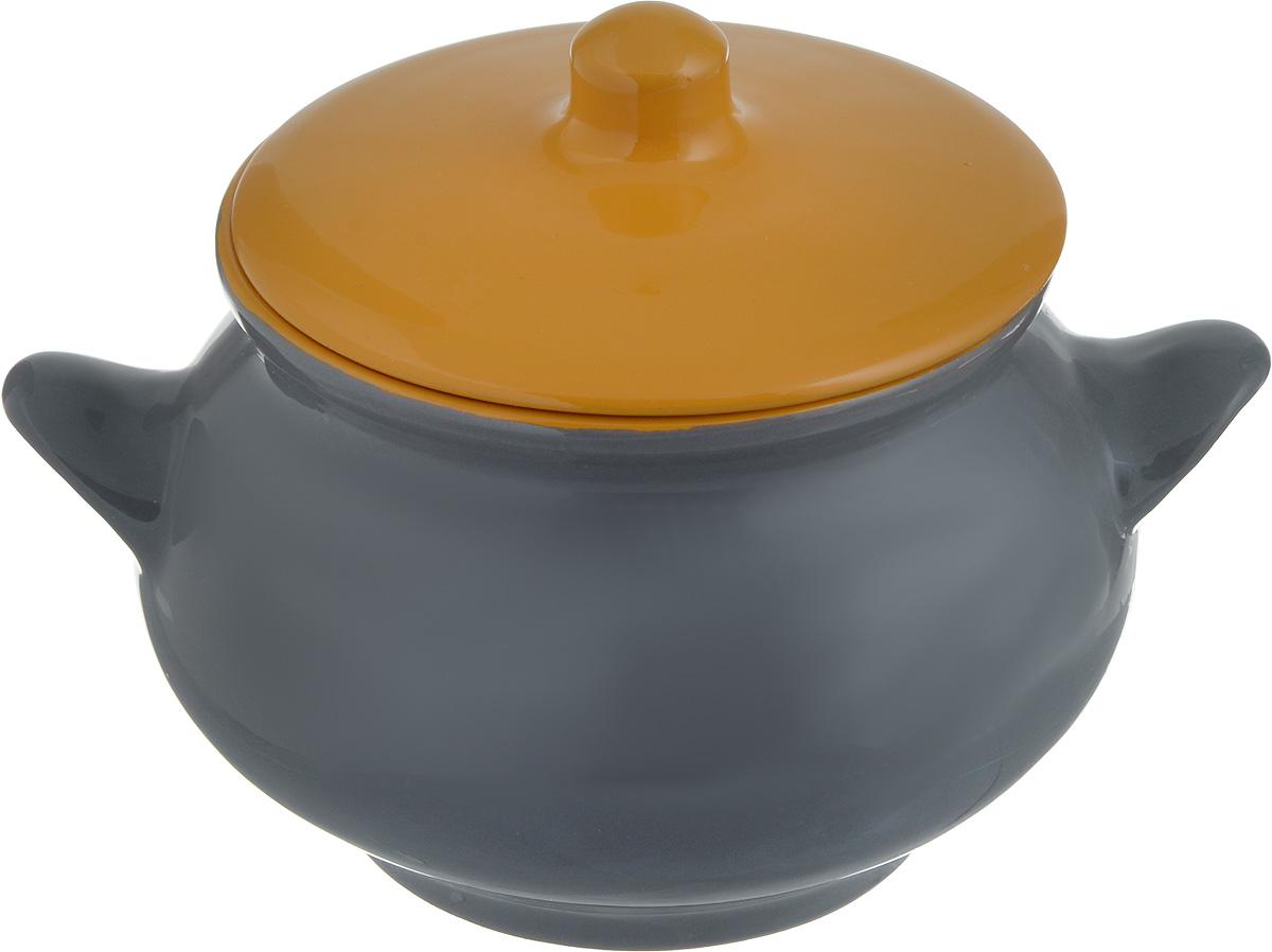 Горшок для запекания Борисовская керамика Радуга, с крышкой, цвет: серый, желтый, 950 мл391602Горшок для запекания Борисовская керамика Радугавыполнен из высококачественной керамики и оснащенкрышкой. Уникальные свойства красной глины и толстыестенки изделия обеспечивают эффект русской печи приприготовлении блюд. Блюда, приготовленные вкерамическом горшке, получаются нежными и сочными.Вы сможете приготовить мясо, сделать томленые овощии все это без капли масла. Это один из самых здоровыхспособов готовки.Диаметр горшка (по верхнему краю): 12 см. Высота стенок: 10,5 см.