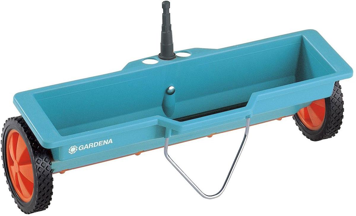Разбрасыватель-сеялка Gardena, 3 лK100Для внесения удобрений, встроенный механизм обеспечиваетравномерный, дозированный разброс.Емкость 3 литра
