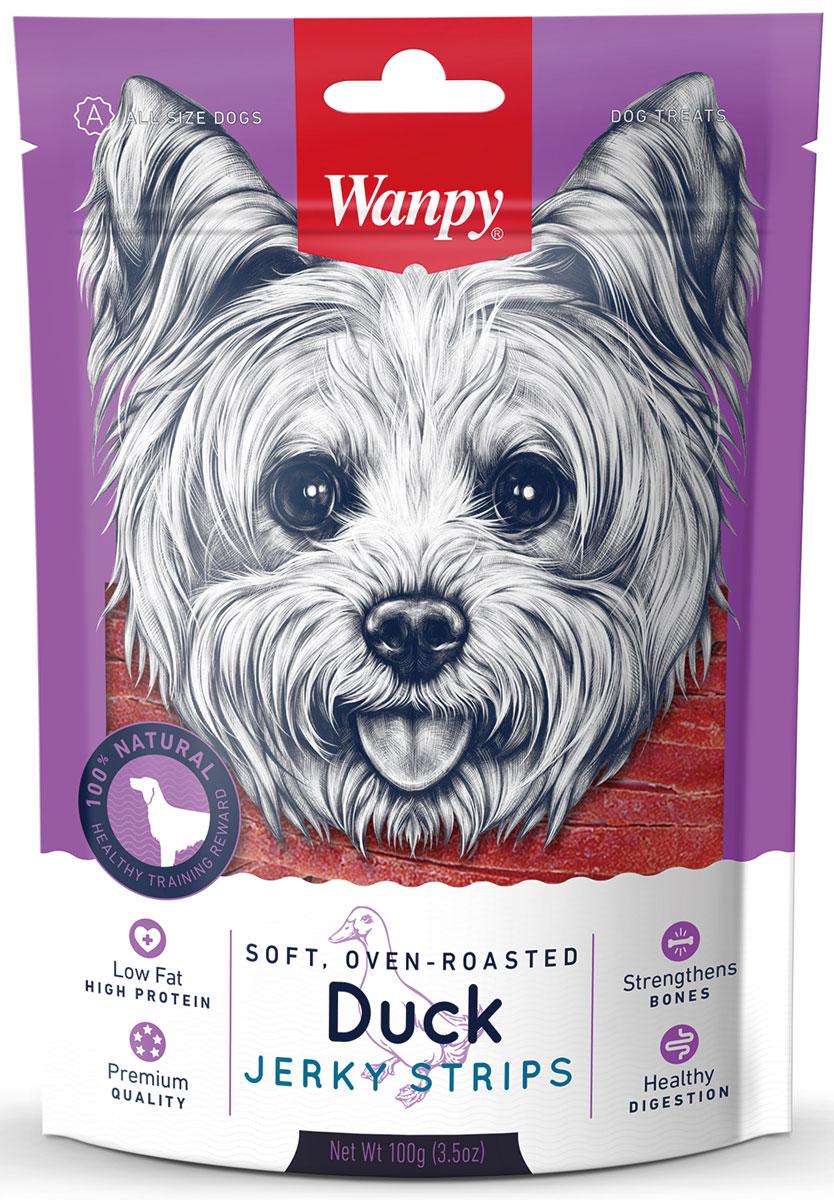 Лакомство для собак Wanpy Dog, утиная соломка, 100 гDA-02SУтиная соломка - вкусное и натуральное лакомство для собак. Внимание! Абсорбент, находящийся внутри упаковки не подлежит скармлению животным, предназначен для предотвращения образования влаги внутри упаковки.Анализ компонентов: сырой белок 42,0%; сырой жир 1,0%; клетчатка 0,5%; зола 3,5%; влага 32,0%. Состав: утка, глицерин, растительный белок, сорбитол, соль, чесночный порошок, содержит разрешенные ЕС красители. Рекомендации по кормлению: давать в виде дополнения к основному питанию. Свежая вода всегда должна быть доступна вашему питомцу.
