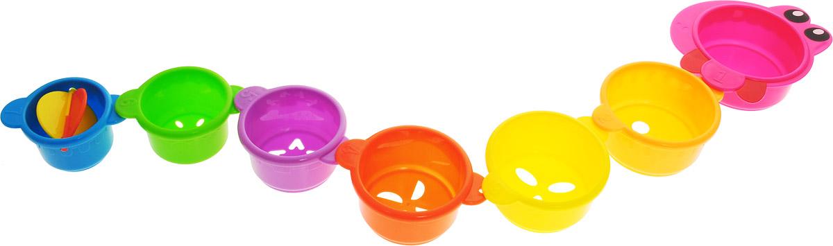 Фото Малышарики Игрушка для ванной Змейка цвет розовый. Купить в РФ