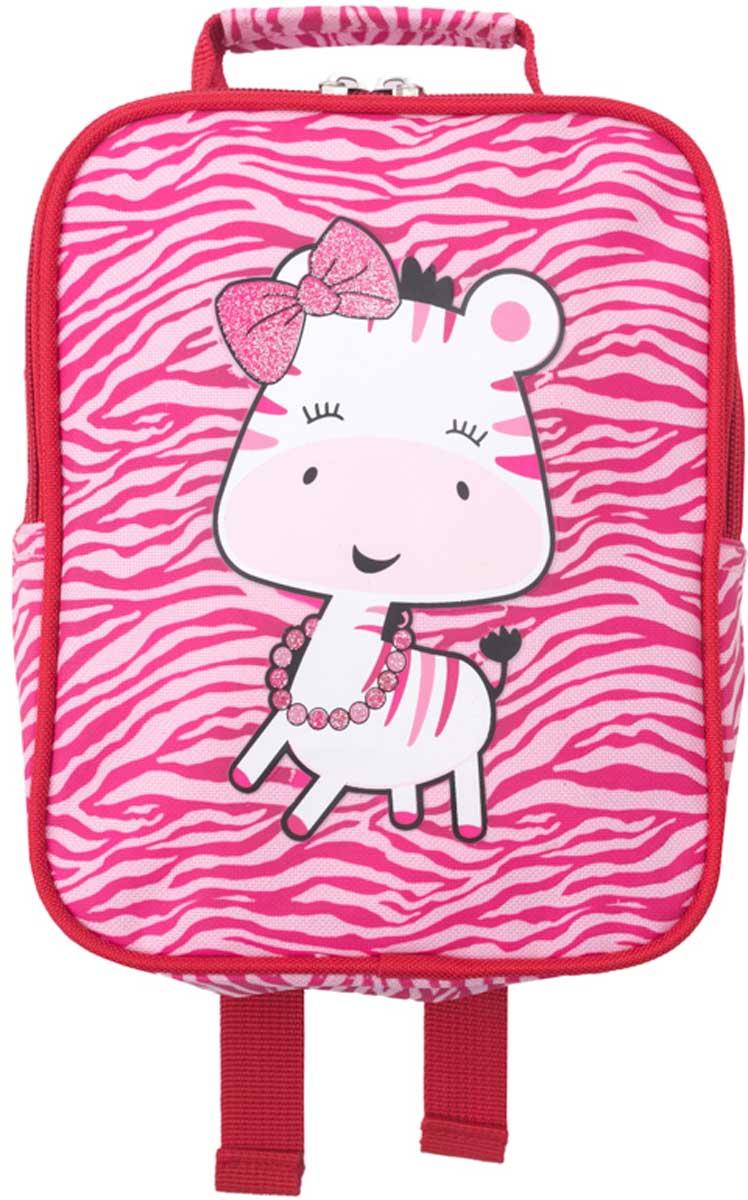 Рюкзак для девочки PlayToday, цвет: розовый. 178751178751Стильный рюкзак для девочки выполнен из полиэстера. Модель с одним отделением, застегивается на молнию. Украшен стильным принтом. Внутри дополнительный вкладной мешок, в который можно класть обувь. Плечевые лямки регулируются по длине.