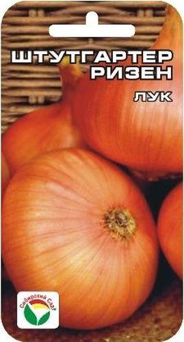 Семена Сибирский сад Лук репчатый. Штуттгартер ризенCAD300UBECРаннеспелый сорт лука универсального назначения для выращивания в однолетней культуре из семян и двулетней культуре из севка. Луковица плоскоокруглая плотная, острого вкуса, массой 50-150 г. Сухие чешуи имеют коричнево-золотистую окраску, сочные — белую. Сорт однозачатковый, одногнездный, стабильно урожайный, пригоден для длительного хранения.В однолетней культуре лук выращивается через рассаду, либо семена высевают ранней весной на грядах, ширина междурядий - 20-30 см, глубина посева - 1,5-2 см. В фазе 2-3 листьев посевы прореживают, оставляя между растениями 3-4 см. Дальнейший уход заключается в регулярном поливе и подкормках. С июля подкормки и поливы прекращают.Для ускорения процесса всхожести семян, оздоровления растений, улучшения завязываемости плодов рекомендуется пользоваться специально разработанными стимуляторами роста и развития растений.