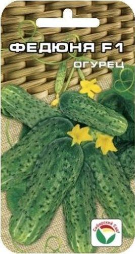 Семена Сибирский сад Огурец. Федюня, 7 штBP-00000322Среднеранний гибрид преимущественно женского типа цветения. От массовых всходов до первого сбора 45-46 дней. Растение среднеплетистое, длина главной плети 3-3,2 м, ветвление среднее. Лист зеленый, слаборассеченный, средних размеров. Зеленец цилиндрической формы, зеленый, с гладким основанием, длиной 8-11 см, массой 55-65 г, белошипый. Плоды высоких вкусовых качеств, генетически без горечи. Гибрид характеризуется устойчивостью к мучнистой росе и пероноспорозу. Предназначен для выращивания в открытом грунте и пленочных теплицах. Универсального назначения. Урожайность - 9,5-10,5 кг с 1 м2. Для ускорения процесса всхожести семян, оздоровления растений, улучшения завязываемости плодов рекомендуется пользоваться специально разработанными стимуляторами роста и развития растений.