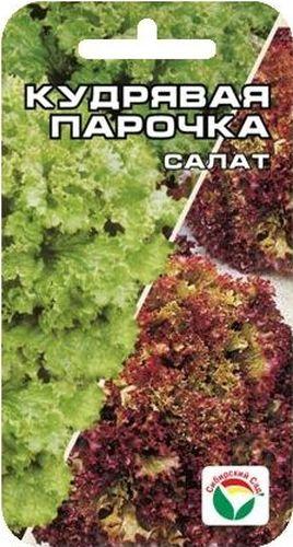 Семена Сибирский сад Салат. Кудрявая парочка, 1 г4603726128094В этом пакете вы найдете смесь из двух наиболее любимых кудрявых раннеспелых салатов - Одесский Кучерявец и Лолла Росса. Оба салата имеют нежные, хрустящие, сочные листья с приятным вкусом. Эта смесь очень красиво и декоративно смотрится на грядке, поскольку листья салата Лолла Росса красновато-розового цвета, а листья Одесского Кучерявца ярко-зеленые. Смесь отличается устойчивостью к цветушности и длительным периодом использования, идеально подходит для салатов и украшения столовых блюд.