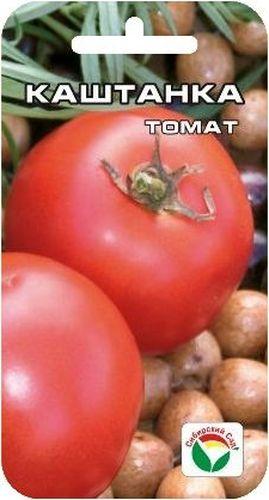 Семена Сибирский сад Томат. Каштанка, 20 штBH-SI0439-WWКрасивый среднеранний суперурожайный детерминантный сорт. Куст высотой до 80 см в открытом грунте и до 160 см в пленочных теплицах. Усыпан кистями плодов от белесого до ярко-красного цвета в зависимости от степени зрелости. Плоды округлые, очень ровные, глянцевато-блестящие, массой до 150 г. Томаты очень дружно созревают, имеют высокие вкусовые качества, прекрасно переносят длительную транспортировку без потери товарного вида, замечательно подходят для засолки, консервирования и употребления в свежем виде. Сорт устойчив к неблагоприятным погодным условиям, вызревает на кусте в условиях Сибири. При высадке в грунт на 1 м2 размещают 3-5 растений.