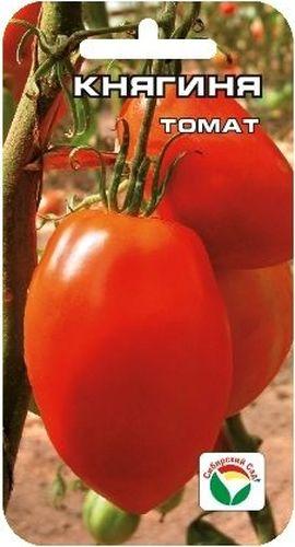 Семена Сибирский сад Томат. Княгиня, 20 штRC-100BPCВеликолепный среднеранний индетерминантный сорт для теплиц и временных укрытий. Завязывает до 9 кистей с 4-9 красными ровными, удлиненными плодами приятного сладкого вкуса, массой 350-400 г. Плоды плотные, мясистые, с высокой насыщенностью мякоти, прекрасно подходят для засолки, консервирования и употребления в свежем виде.Высокая урожайность и товарность плодов являются неоспоримыми достоинствами сорта!Посев на рассаду производят за 50-60 дней до высадки растений на постоянное место. Оптимальная постоянная температура прорастания семян 23-25°С.При высадке в грунт на 1 м2 размещают 3 растения. Сорт хорошо реагирует на полив и подкормки комплексными минеральными удобрениями. Требует пасынкования и подвязки.Для ускорения процесса всхожести семян, оздоровления растений, улучшения завязываемости плодов рекомендуется пользоваться специально разработанными стимуляторами роста и развития растений.