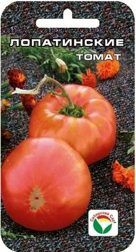 Семена Сибирский сад Томат. Лопатинские, 20 штCLP446Среднеспелый крупноплодный сорт для теплиц и открытого грунта. Растения высотой до 1 м. Плоды плоско-округлые, ровные, красного цвета, массой 600-800 г. Сорт дает стабильно-высокий урожай даже в неблагоприятные годы. Одинаково хорош для употребления в свежем виде, домашней кулинарии и рыночных продаж. При высадке в грунт на 1 м2 размещают не более 4 растений. Выращивается в 2-3 стебля с подвязкой к опоре.