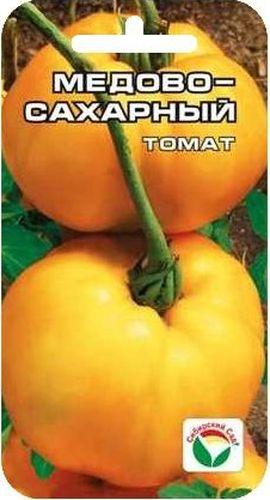 Семена Сибирский сад Томат. Медово-сахарный, 20 шт137786Вкусный крупноплодный сорт сибирских селекционеров. Отличается плодами яркой медово-желтой окраски с нежным сахарным вкусом. Растение высотой 0,8-1,5 м, при хорошем уходе завязывает до 7 кистей округлых выровненных плодов массой до 400 г. Плоды приятной плотной консистенции и вкуса, могут быть рекомендованы для детского и диетического питания. Сорт обладает стабильно хорошей урожайностью в разные по климатическим условиям годы. Рекомендуется для выращивания в открытом и защищенном грунте. Посев на рассаду производят за 50-60 дней до высадки растений на постоянное место. Оптимальная постоянная температура прорастания семян 23-25°С. При высадке в грунт на 1 м2 размещают 3 растения. Формируется в 1 стебель, с пасынкованием и подвязкой. Сорт хорошо реагирует на полив и подкормки комплексными минеральными удобрения.