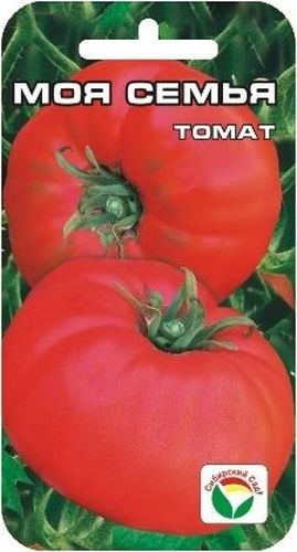 Семена Сибирский сад Томат. Моя семья, 20 шт9103500790Новый томат сибирской селекции с крупными, потрясающе вкусными плодами, обладающими сахаристой мякотью, с очень малым количеством семян и великолепным ароматом. Среднеспелый сорт для открытого грунта и пленочных укрытий. Растение детерминантного типа, высотой 70-80 см. Плоды плоско-округлой формы, слаборебристые, весом около 400 г (первые достигают веса 600 г), малиново-розового цвета. Требует умеренного пасынкования, устойчив к основным заболеваниям томатов. Ценность сорта: высокая урожайность, прекрасные вкусовые и товарные качества. Пригоден для употребления в свежем виде, домашней кулинарии и рыночных продаж. При высадке в грунт на 1 м2 размещают 3-4 растения. Для получения наиболее крупных плодов требуется своевременное пасынкование.