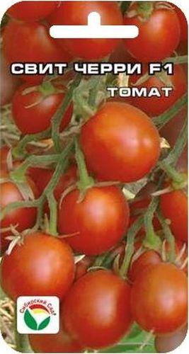 Семена Сибирский сад Томат. Свит черри, 15 штBP-00000316Ультраскороспелый высокоурожайный для теплиц и парников. Со дня высадки рассады до плодоношения всего 75-85 дней. Это сильнорослое (до 2 м) растение вполне можно назвать конфетным деревом. Томаты массой 20-30 г украсят любые блюда, прекрасно подходят для консервирования. Гибрид отличается дружной отдачей урожая (до 40% за первую декаду плодоношения), обладает комплексной устойчивостью к болезням.Посев на рассаду производят в середине марта за 50-60 дней до высадки растений на постоянное место. При высадке в грунт на 1 м2 размещают 3 растения. Сорт хорошо реагирует на полив и подкормки комплексными минеральными удобрениями. Высокорослые томаты обязательно подвязывают к горизонтальным либо вертикальным шпалерам. Выращивают в 1-2 стебля.Для ускорения процесса всхожести семян, оздоровления растений, улучшения завязываемости плодов рекомендуется использовать специально разработанные стимуляторы роста и развития растений.
