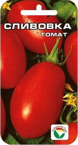 Семена Сибирский сад Томат. Сливовка, 20 штSS 4041Раннеспелый низкорослый (35-40 см) детерминантный сорт. Плоды красные, сливовидной формы, массой 80-100 г, используются в свежем виде, но особенно хороши для цельноплодного консервирования. Выращивается в 2-3 стебля, возможно без пасынкования, в открытом грунте. Ценность сорта - раннеспелость, стабильная продуктивность, оригинальная сливовидная форма и непревзойденные засолочные качества плодов. Сорт устойчив к неблагоприятным погодным условиям. Сорт хорошо реагирует на полив и подкормки комплексными минеральными удобрениями.Для ускорения процесса всхожести семян, улучшения завязываемости плодов рекомендуется пользоваться специально разработанными стимуляторами роста и развития растений