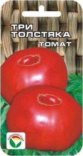 Семена Сибирский сад Томат. Три толстяка, 20 штBP-00000500Среднеспелый крупноплодный сорт алтайской селекции. Масса плода до 800 г. Растения высотой 1,1-1,5 м, на главном стебле закладывается 5-6 кистей с четырьмя-пятью плодами. Плоды плоско-сердцевидные, ярко-красного цвета, плотные, великолепны в салатах и заготовках на зиму. Достоинства сорта - очень крупные мясистые плоды, хорошее завязывание, высокая урожайность- позволяют ему быстро завоевать признание садоводов. Сорт выращивается в открытом и защищенном грунте в 1-2 стебля, отзывчив к регулярным подкормкам и пасынкованию. На 1 м2 размещают не более трех растений.Для ускорения процесса всхожести семян, оздоровления растений, улучшения завязываемости плодов рекомендуется пользоваться специально разработанными стимуляторами роста и развития растений.