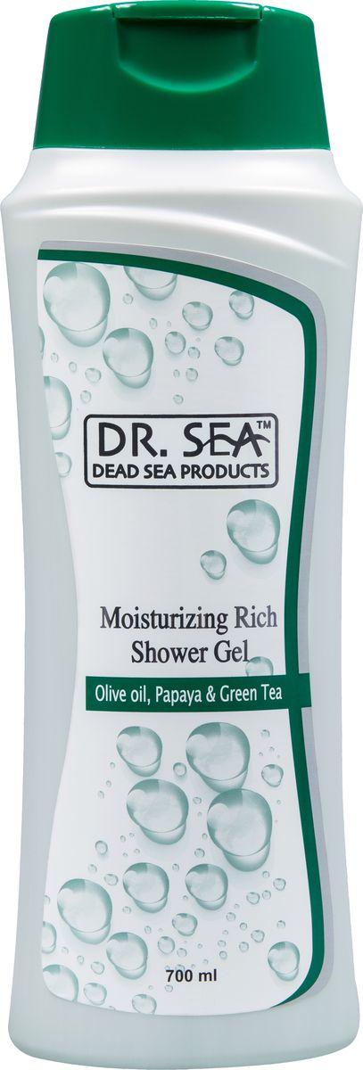 Dr.Sea Увлажняющий гель для душа-масло оливы, папайя и зеленый чай, 700 млFS-00103Крем-гель Dr. Sea обладает ароматерапевтическим эффектом и нейтрализует вредное воздействие жесткой воды. Благодаря действию оливкового масла и масла папайи кожа после купания становится мягкой, упругой и бархатистой. Целебные свойства минералов Мертвого моря и экстракта зеленого чая успокаивают кожу, выравнивают рельеф, а также замедляют процесс старения и улучшают обмен веществ. Крем-гель придает вашей коже волшебный аромат, чудесное ощущение свежести и обновления. Возможно использование в качестве пенящегося средства для ванны. Подходит для всей семьи.Основу косметики Dr. Sea составляют минералы, грязи и органические вытяжки Мертвого моря, а также натуральные растительные экстракты. Косметические средства Dr. Sea разрабатываются и производятся исключительно на территории Израиля в новейших технологических условиях, позволяющих максимально раскрыть и сохранить целебные свойства природных компонентов. Ни в одном из препаратов не содержится парааминобензойная кислота (так называемый парабен), а в составе шампуней и гелей для душа не используется Sodium Lauryl Sulfate. Уникальность минеральной косметики Dr. Sea состоит в том, что все компоненты, входящие в рецептуру, натуральные. Сочетание минералов, грязи, соли и других натуральных составляющих, усиливают целебное действие и не дают побочных эффектов. Характеристики:Объем: 750 мл. Производитель: Израиль. Товар сертифицирован.