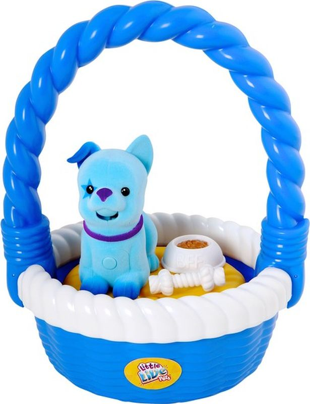 Moose Интерактивная игрушка Щенок в корзинке цвет розовый - Интерактивные игрушки