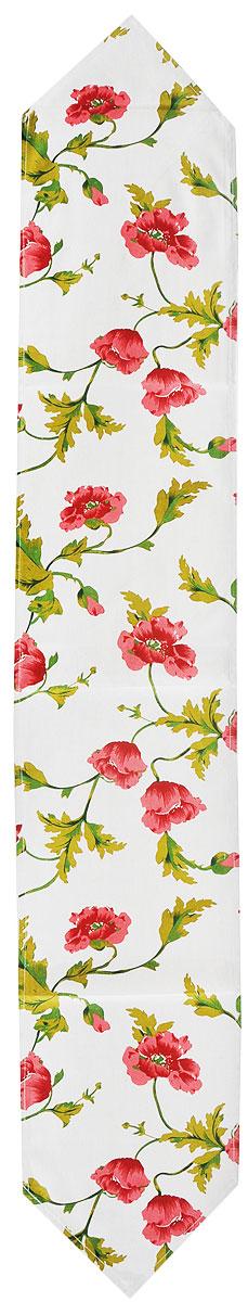 Дорожка для декорирования стола Schaefer, цвет: бежевый, красный, зеленый, 30 x 180 смCLP446Дорожка Schaefer, выполненная из плотного полиэстера с добавлением льна, станет изысканным украшением интерьера. Изделие оформлено цветочным принтом. Изделие можно использовать для украшения комодов, тумб и столов.Такая дорожка изящно дополнит интерьер вашего дома.