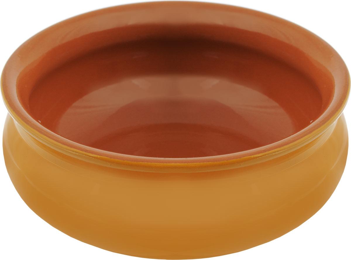 Тарелка глубокая Борисовская керамика Скифская, цвет: желтый, коричневый, 500 мл83-071-Ф260 ЛАВАНГлубокая тарелка Борисовская керамика Скифская выполнена из керамики. Изделие сочетает в себе изысканный дизайн с максимальной функциональностью. Она прекрасно впишется в интерьер вашей кухни и станет достойным дополнением к кухонному инвентарю. Такая тарелка подчеркнет прекрасный вкус хозяйки и станет отличным подарком. Можно использовать в духовке и микроволновой печи.Диаметр тарелки (по верхнему краю): 14 см.Высота стенки: 6 см.Объем: 500 мл.