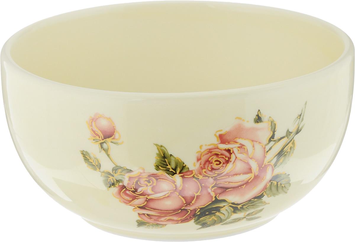 Чаша Loraine Розы, 580 мл. 21685115510Чаша Loraine Розы изготовлена из высококачественного доломита с глазурованным покрытием и декорирована красивым цветочным рисунком. Чаша используется для подачи бульонов, супов и других блюд. Благодаря качеству исполнения и красивому дизайну изделие станет отличным приобретением для вашей кухни. Можно использовать в микроволновой печи и мыть в посудомоечной машине.