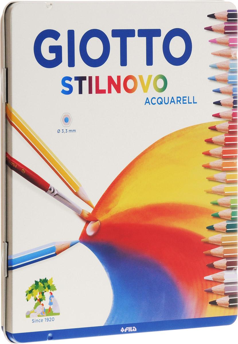 Цветные акварельные карандаши Glotto Stilnovo Acquarell непременно понравятся вашему юному художнику.Набор включает в себя 24 ярких насыщенных цветных карандаша гексагональной формы с серебряным нанесением по ребру грани. Идеально подходят для школы. Карандаши изготовлены из сертифицированного дерева, экологически чистые, имеют прочный неломающийся грифель, не требующий сильного нажатия и легко затачиваются. На рубашке карандаша имеется место для нанесения имени. Порадуйте своего ребенка таким восхитительным подарком!
