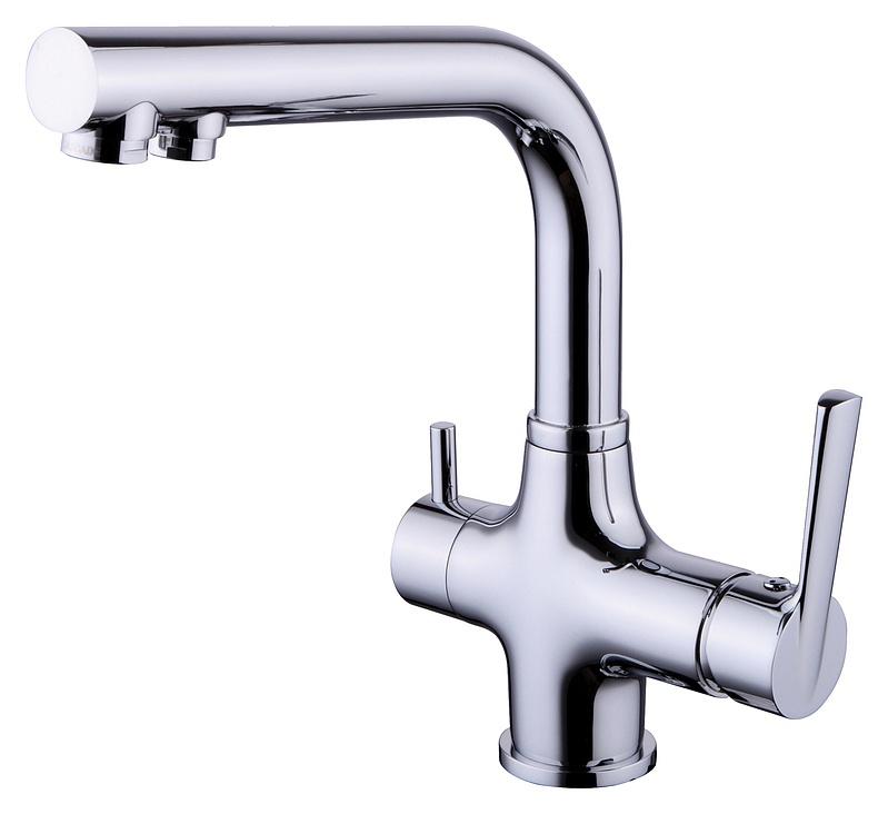 Смеситель для мойки Smartsant Кухонная серия, с каналом для фильтрованной воды, цвет: хромTA59017BW5 MIСмеситель для мойки с каналом для фильтрованной воды, хром SM134038AA