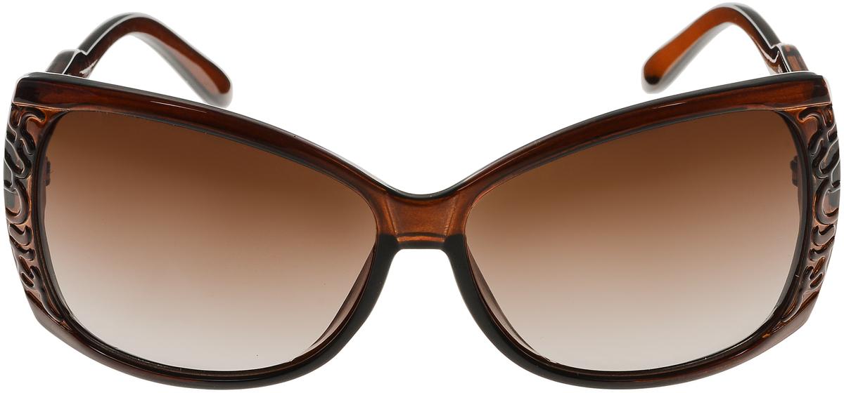 Очки солнцезащитные женские Vittorio Richi, цвет: коричневый. ОС5023с81-11/17fBM8434-58AEСолнцезащитные очки Vittorio Richi выполнены из высококачественного пластика. Пластик используемый при изготовлении линз не искажает изображение, не подвержен нагреванию и вредному воздействию солнечных лучей. Оправа очков легкая, прилегающей формы и поэтому обеспечивает максимальный комфорт. Такие очки защитят глаза от ультрафиолетовых лучей, подчеркнут вашу индивидуальность и сделают ваш образ завершенным.