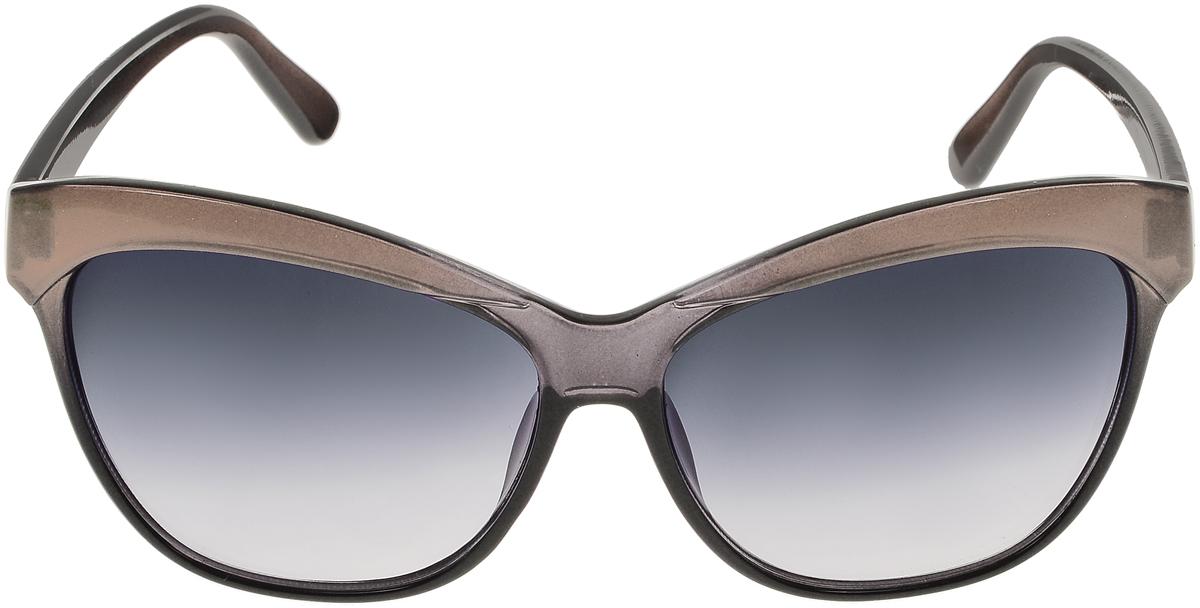 Очки солнцезащитные женские Vittorio Richi, цвет: коричневый, черный. ОС1632с4/17fINT-06501Солнцезащитные очки Vittorio Richi выполнены из высококачественного пластика. Пластик используемый при изготовлении линз не искажает изображение, не подвержен нагреванию и вредному воздействию солнечных лучей. Оправа очков легкая, прилегающей формы и поэтому обеспечивает максимальный комфорт. Такие очки защитят глаза от ультрафиолетовых лучей, подчеркнут вашу индивидуальность и сделают ваш образ завершенным.