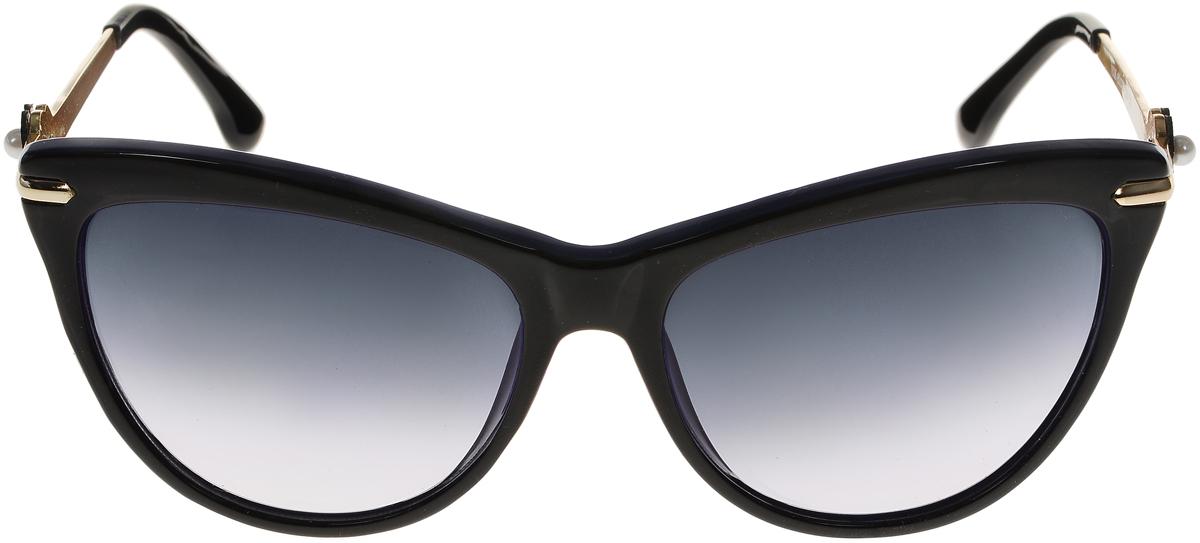 Очки солнцезащитные женские Vittorio Richi, цвет: черный, синий. ОС1636с6/17fBM8434-58AEСолнцезащитные очки Vittorio Richi выполнены из высококачественного пластика и металла. Пластик используемый при изготовлении линз не искажает изображение, не подвержен нагреванию и вредному воздействию солнечных лучей. Оправа очков легкая, прилегающей формы и поэтому обеспечивает максимальный комфорт. Такие очки защитят глаза от ультрафиолетовых лучей, подчеркнут вашу индивидуальность и сделают ваш образ завершенным.