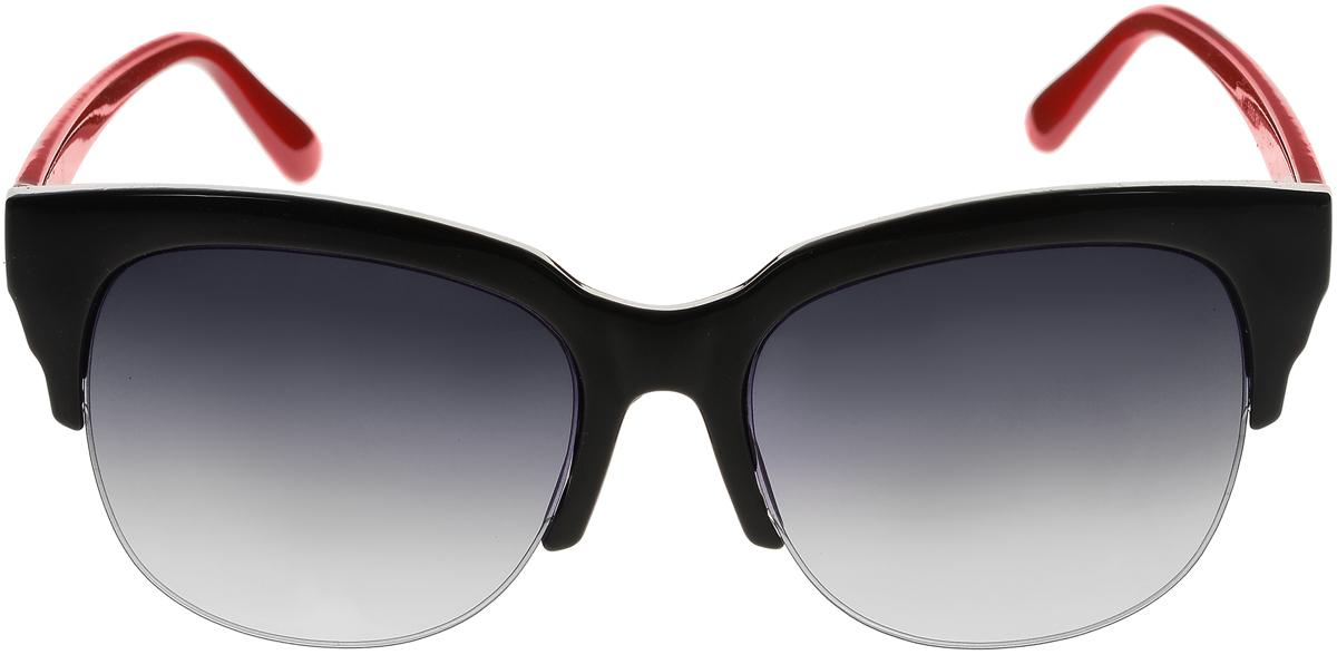 Очки солнцезащитные женские Vittorio Richi, цвет: черный, красный. ОС5005с80-10-2/17fBM8434-58AEСолнцезащитные очки Vittorio Richi выполнены из высококачественного пластика. Пластик используемый при изготовлении линз не искажает изображение, не подвержен нагреванию и вредному воздействию солнечных лучей. Оправа очков легкая, прилегающей формы и поэтому обеспечивает максимальный комфорт. Такие очки защитят глаза от ультрафиолетовых лучей, подчеркнут вашу индивидуальность и сделают ваш образ завершенным.